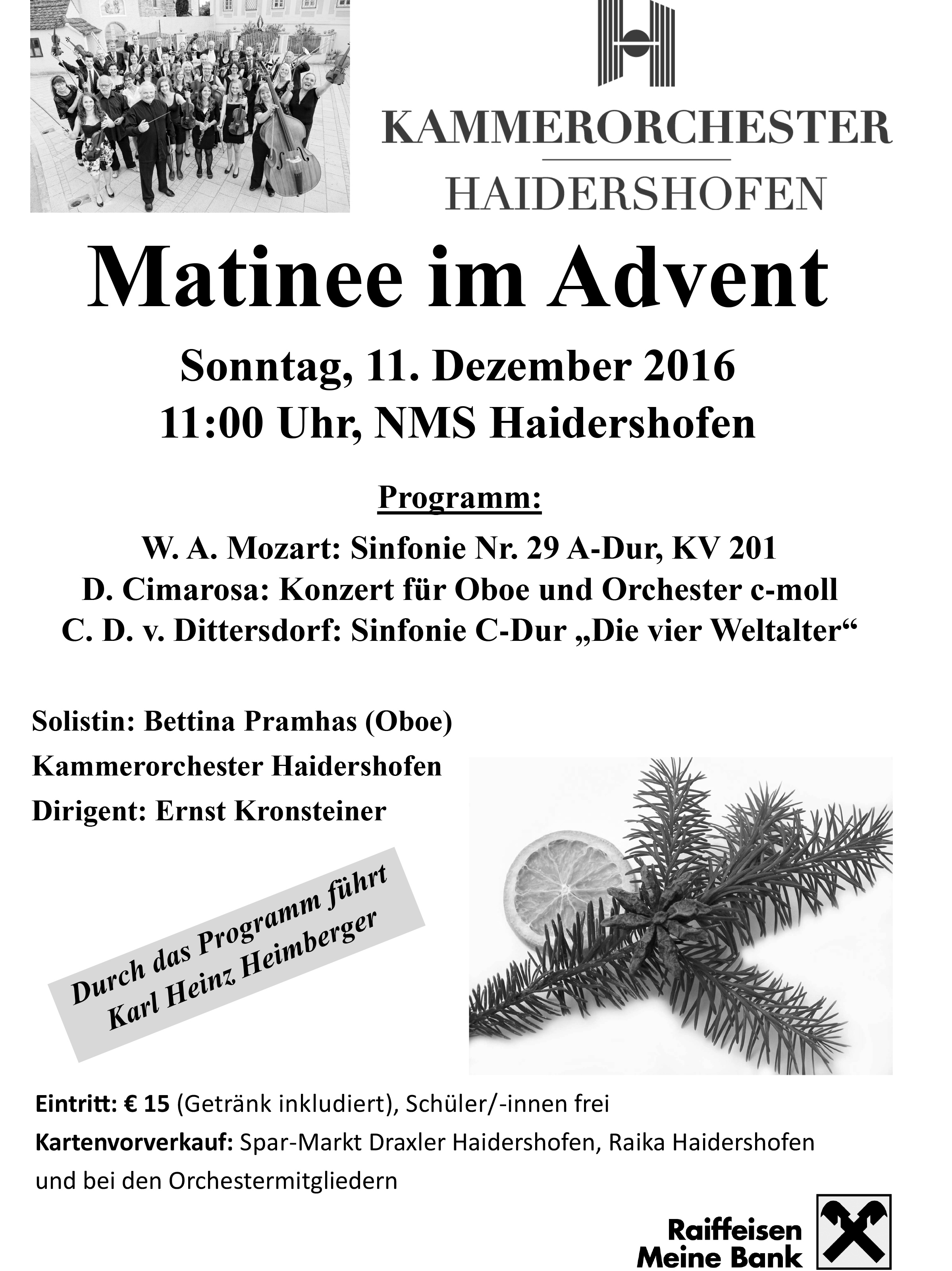 Plakat Matinee im Advent